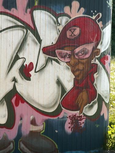 Das Diplom der Graffiti, sehe hier ist ihr Rosenmund so zart und fein, nahe der Autobahnbruecke kommt des Schicksals Hand 188