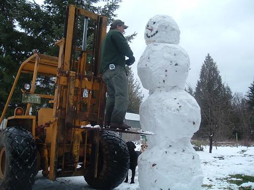 super sized snowman