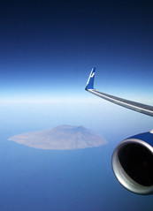 Finnair above Cap Verde islands