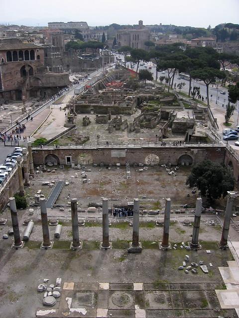 ROMA, I FORI IMPERIALI / FORO DI TRAIANO (1998-2006): 'Foro di Traiano e Via dei Fori Imperiali Durante I Lavori,' Vista alto (2006).