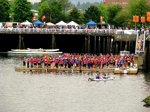 Teams on the docks