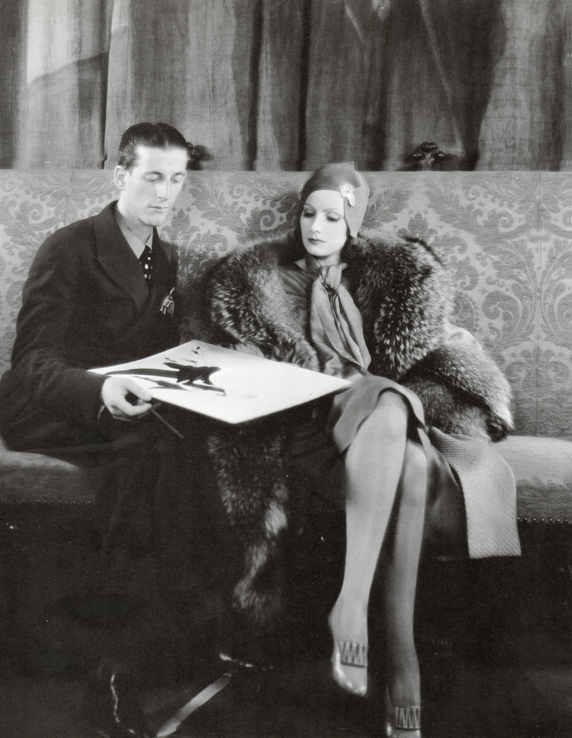 Adrian and Greta Garbo, 1930