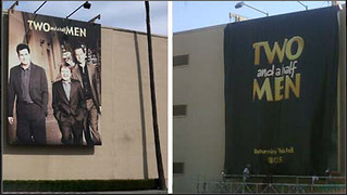 Two and a half men banner