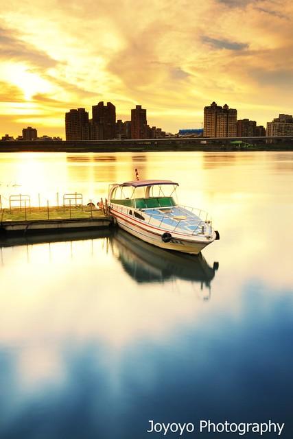 日落大稻埕碼頭(Sunset in Tamsui River)