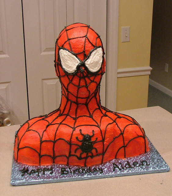 Spiderman Cream Cake Images