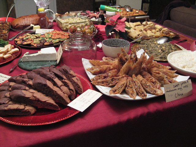GIANT TABLE OF FOOD