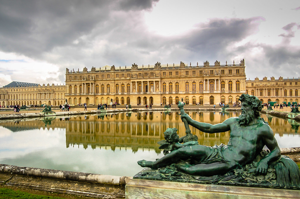 Versailles palace and Zeus Statue