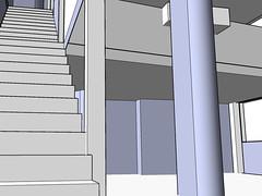 Modèle de maison fait sur sketchUp