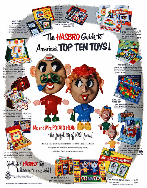 America's Top Ten Hasbro Toys, 1954