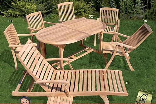 Muebles de jard n y balc n de madera fsc de bauhaus clau - Muebles de jardin bauhaus ...