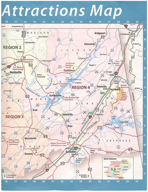 North Alabama Attractions Map  Flickr  Photo Sharing