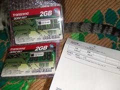 上海問屋 2GB SODIMM DDR2 PC2-5300 メモリ到着