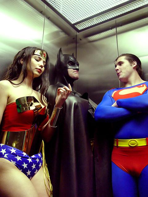 Wonder Woman, Batman, and Superman