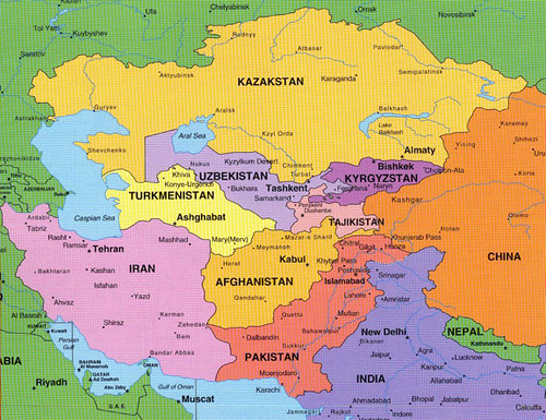 Asia and Middle East and Eastern Europe Map   In the map, As…   Flickr