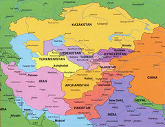 Asia And Middle East And Eastern Europe Map In The Map As Flickr