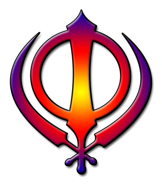 sikh symbol multicoloured khanda flickr photo sharing