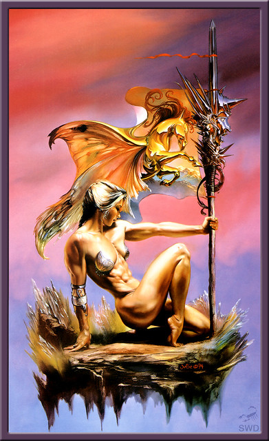 Boris Vallejo & Julie Bell - Fantasy Art - Nude Erotic Girls - Strong As Sel