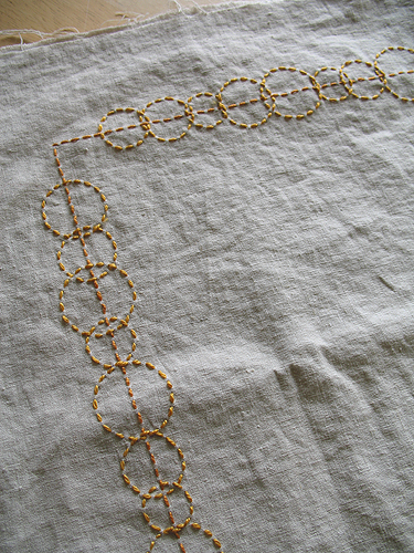 Golden Circles Table Runner