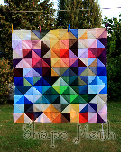 'Shattered rainbow' quilt top (1)