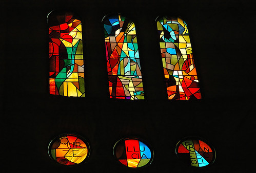 Art With Exclamation Marks: Stained Glass at Sagrada Familia by Carlos Lorenzo