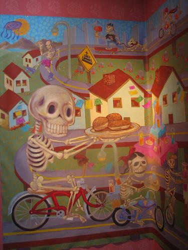 Dia de los muertos a perfect crafty holiday blogher for Dia de los muertos mural