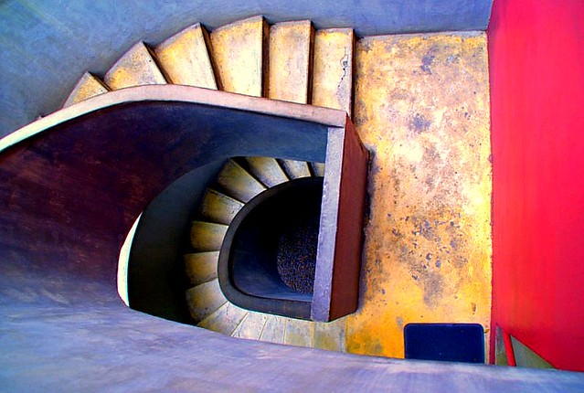 the stairs in Diego Rivera´s atelier
