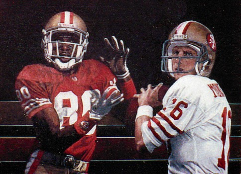 """Joe Montana and Jerry Rice"" - Original Colored Pencil Drawing"
