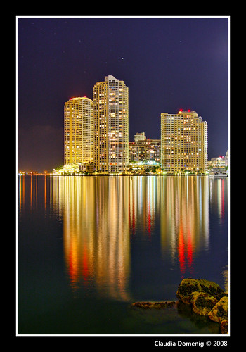 night reflections bravo downtown florida miami jpeg soe hdr condominium highrises bayfrontpark brickellkey photomatix canonefs1785mmf456isusm 3exp mywinners abigfave shieldofexcellence anawesomeshot megashot overtheexcellence miamidadeco theperfectphotographer dphdr