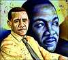 Colorful people for a Better World, Barack Obama, Martin Luther King by Ben Heine