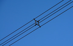 electrical supply, overhead power line, line, electricity, blue, sky,