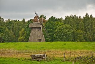 Windmill, Lietuvos Kaimo Muziejus, Rumsiskes, Lithuania, Sept. 2008