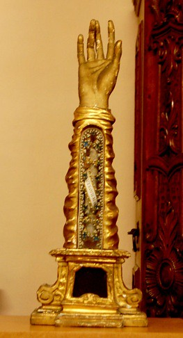 Arm Bone Relic in Arm-Shaped Reliquary