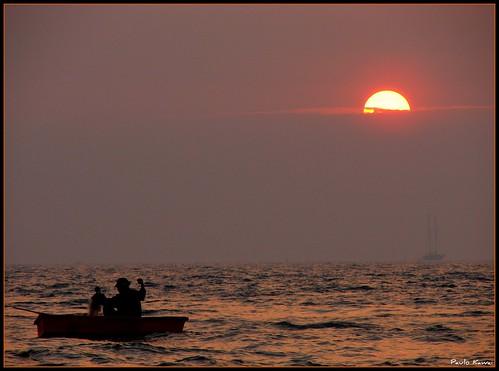 sunset thailand tramonto vessel thailande tailândia jomtien chomburi