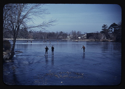 Skating, vicinity of Brockton, Mass. (LOC)