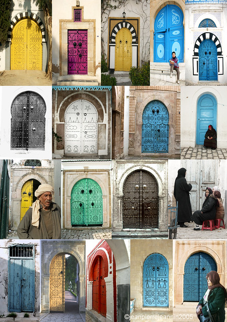 tunisie portes de sidi bou sa d poster aa3a c flickr photo sharing. Black Bedroom Furniture Sets. Home Design Ideas