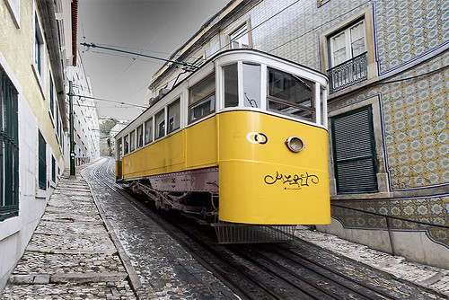 Do you wana cam in the yellow tram...