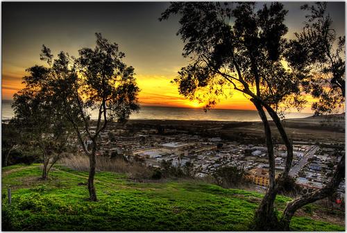 city sunset rebel pacificocean grantpark hdr ventura