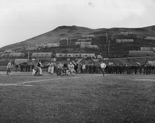 NOB Adak, AK touch football game championship 11 November 1944