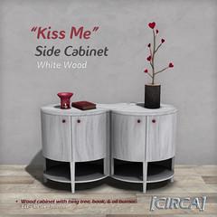 "@ SWANK - [CIRCA] - ""Kiss Me"" - Side Cabinet - White Wood"