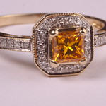 yellow lab grown diamond from www.memorialdiamonds.co.uk