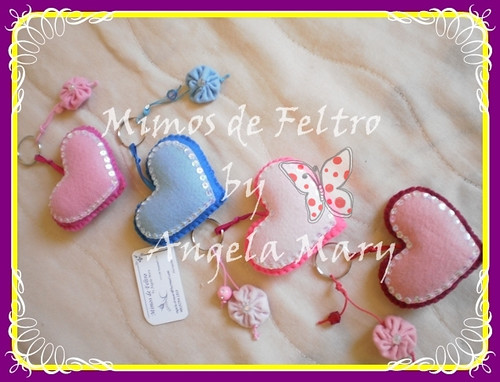 Corações by ♥ Mimos de Feltro by Angela Mary® ♥