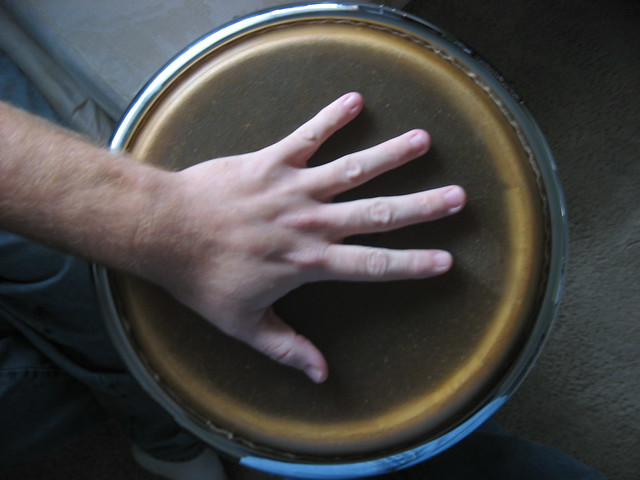 Scott's Hand on the Drum