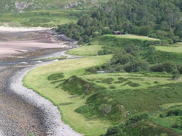 Isostatic rebound raised shore platform NW Scotland