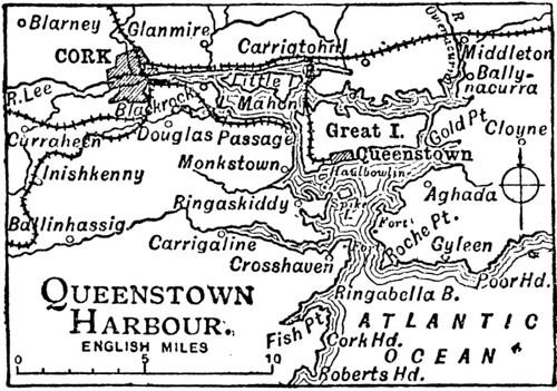 Cobh Queenstown Harbour Map Pantufla Flickr