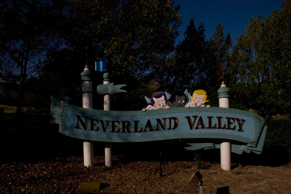 Neverland Road Sign