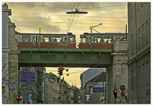 Tramway through Vienna
