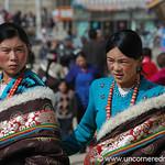 Colorful Clothes, Tibetan Women - Xiahe, China