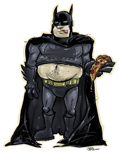 Fat Batman Illustration Of A Somewhat Overweight Batman