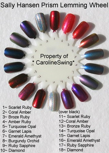 Sally Hansen Prisms Nail Polish Nail Wheel