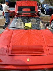 ferrari 288 gto(0.0), ferrari f40(0.0), ferrari testarossa(0.0), lamborghini countach(0.0), race car(1.0), automobile(1.0), vehicle(1.0), performance car(1.0), automotive design(1.0), ferrari 328(1.0), ferrari s.p.a.(1.0), land vehicle(1.0), luxury vehicle(1.0), supercar(1.0), sports car(1.0),